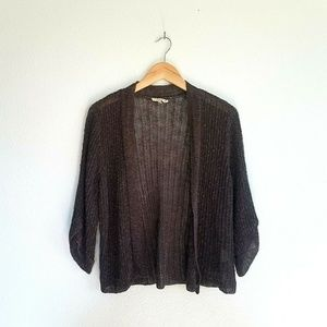 Eileen Fisher Size PL Linen Blend Cardigan Sweater